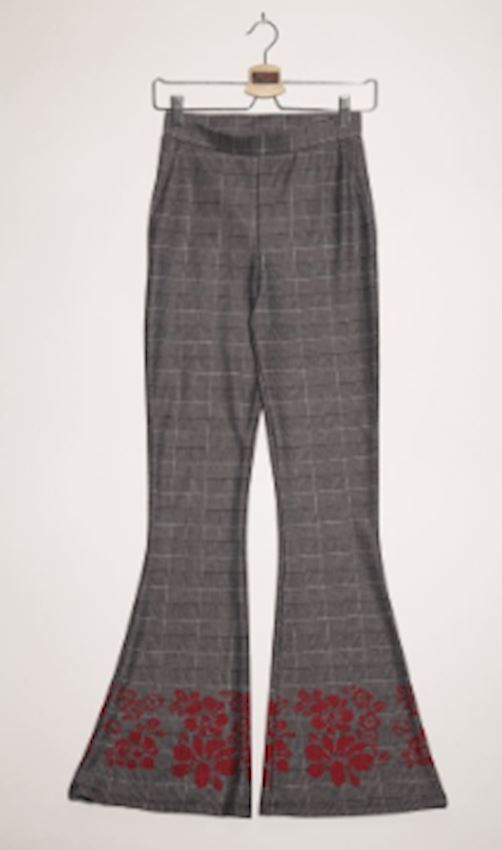 Bell-Bottomed Gray Colored Trousers