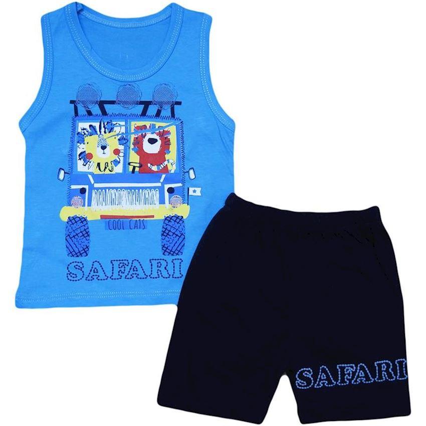 Binary Baby Boy Suit Safari Print