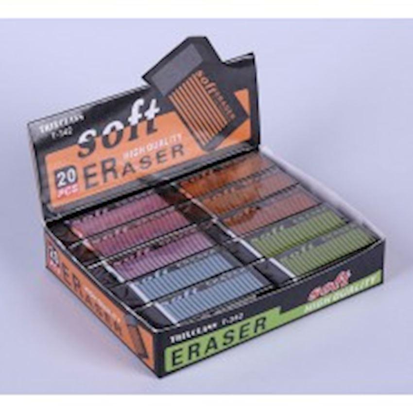Black Soft Eraser 20 pcs - Large Eraser