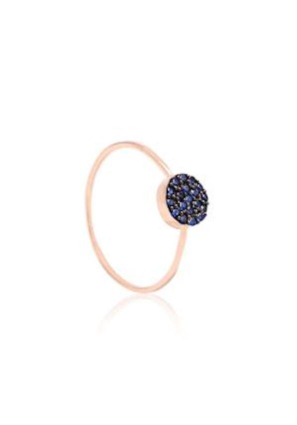Blue Stone Rose Ring