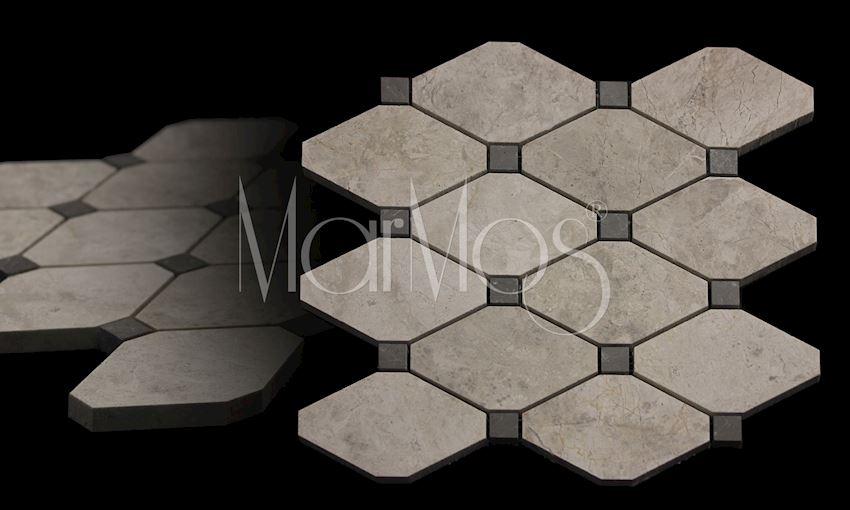 Boliche Mosaic Silver Shadow - Royal Grey Marble Stone