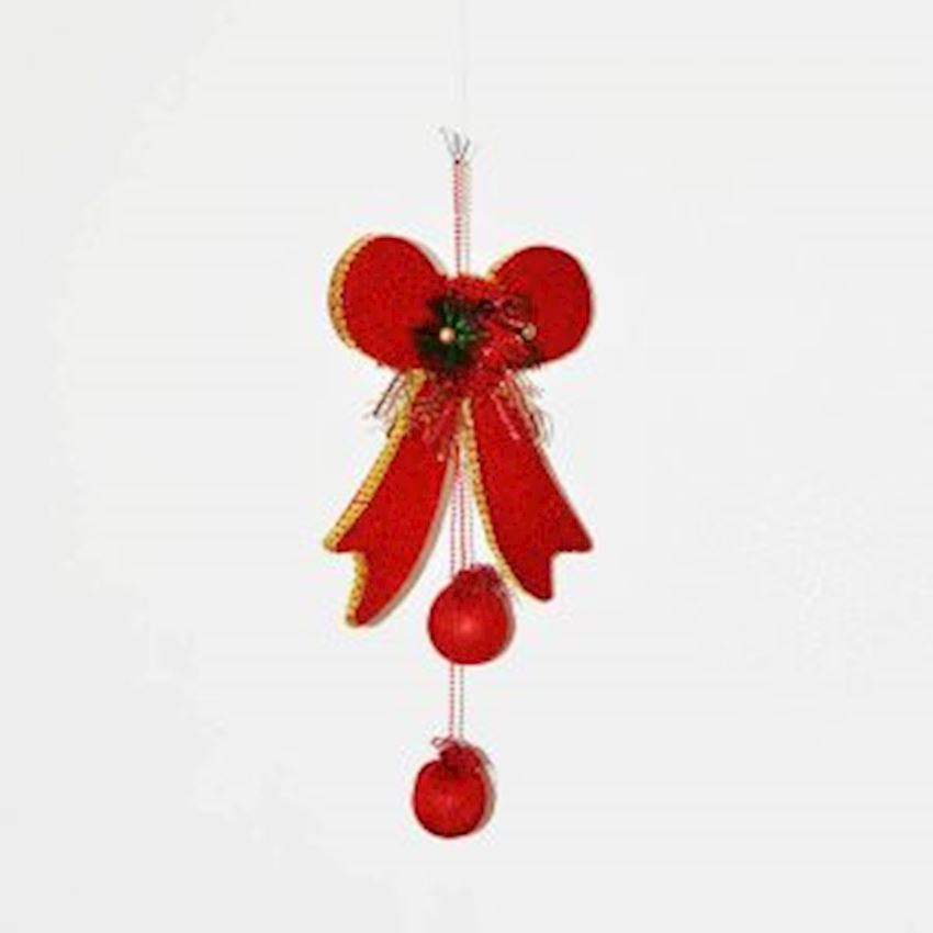 Bow Shaped Christmas Door Ceiling Ornament Red 60cm Christmas Decoration Supplies