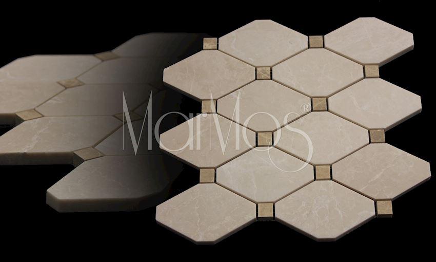 Burdur Beige - Light Empador Boliche Mosaic Marble Stone