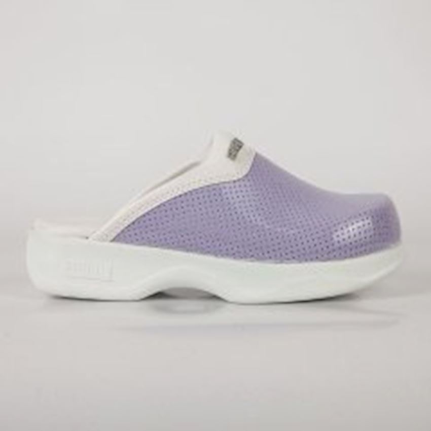 BYGUR Lilac Perforated Women's Hospital Clog