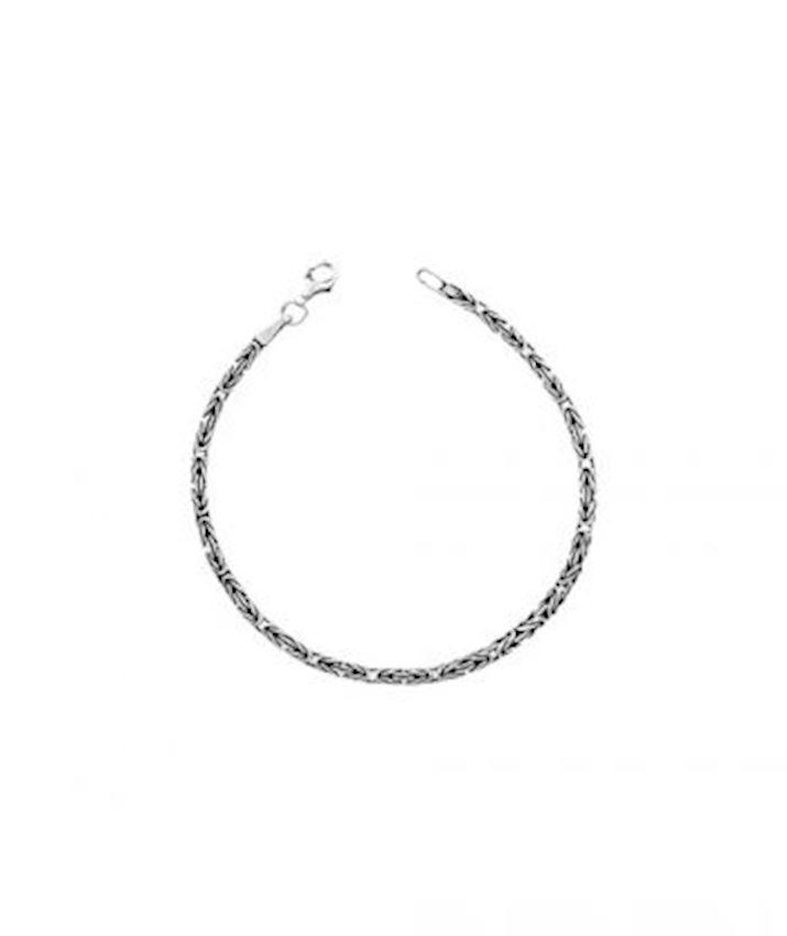 Byzantine Chain Bracelet Oxidized