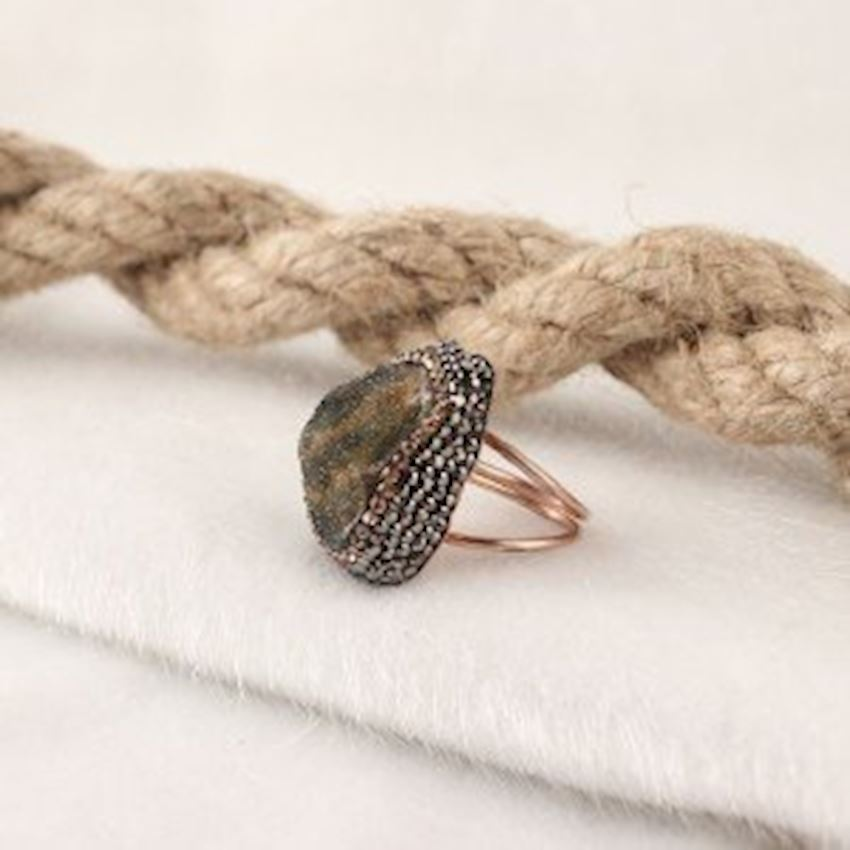 Chalcedony Handcrafted Women's Silver Ring