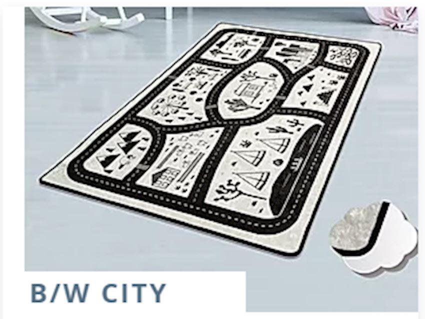 Child Carpet B/W CITY