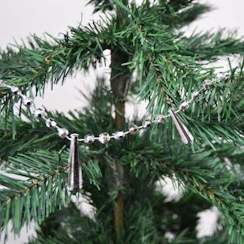 Christmas Tree Chain Ornaments Silver Christmas Decoration Supplies