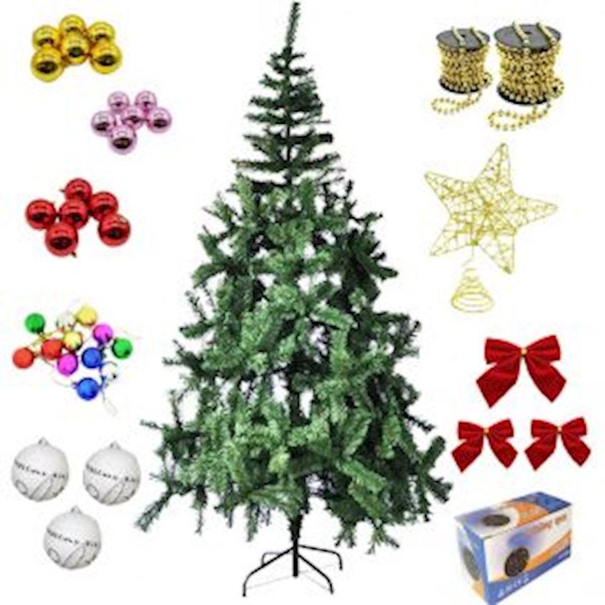 Christmas Tree Set 180cm Pine Tree & Lighting & Christmas Tree Decorations Christmas Decoration Supplies