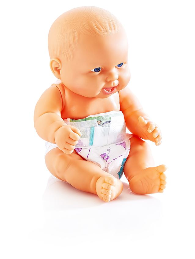 CHUBBY DIAPER BABY TURKISH SPEAKING WITH PVC BAGS