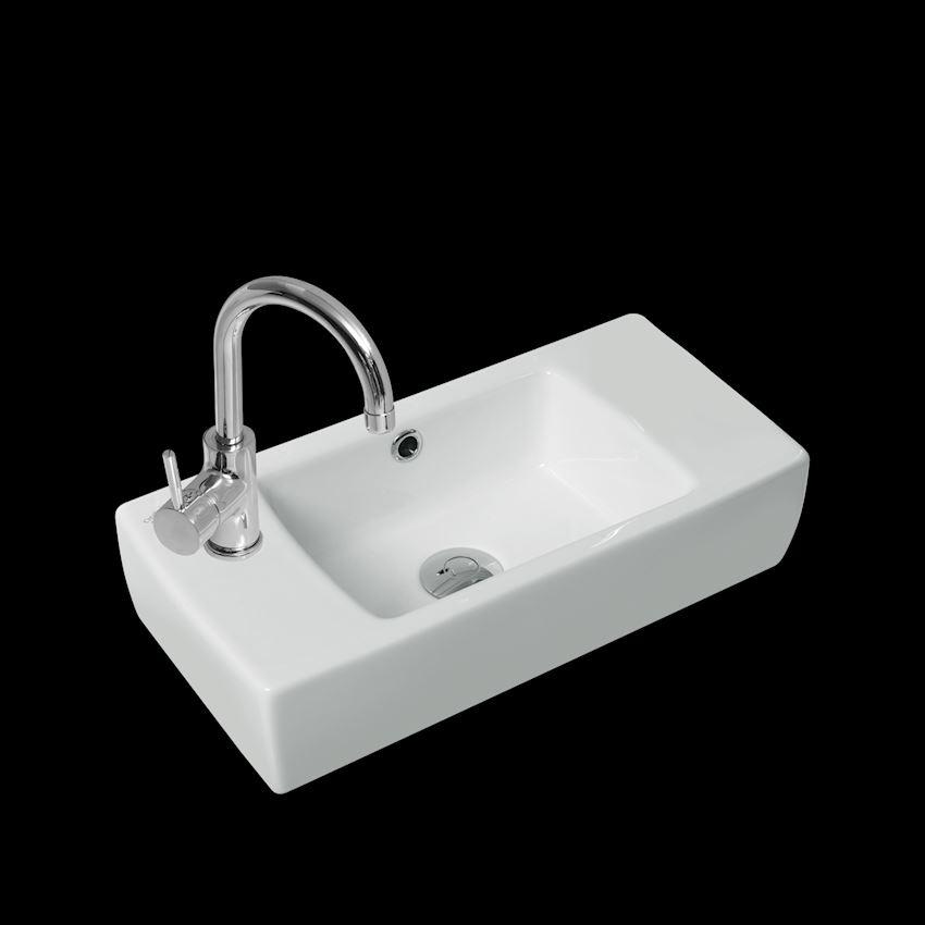 City Washbasin, 25 cm, (Tap Hole-Left Side) Bathroom Sinks