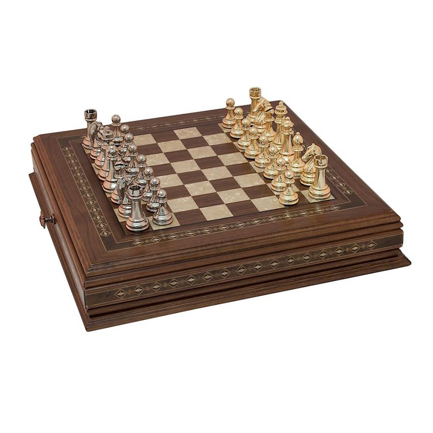 CLASSIC CHESS SET | METAL FIGURED (2629.WAL.5014)