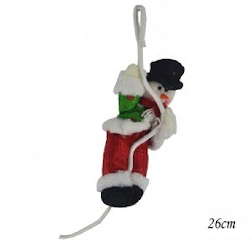 Climbing Plush Snowman Trinket 26cm Christmas Decoration Supplies