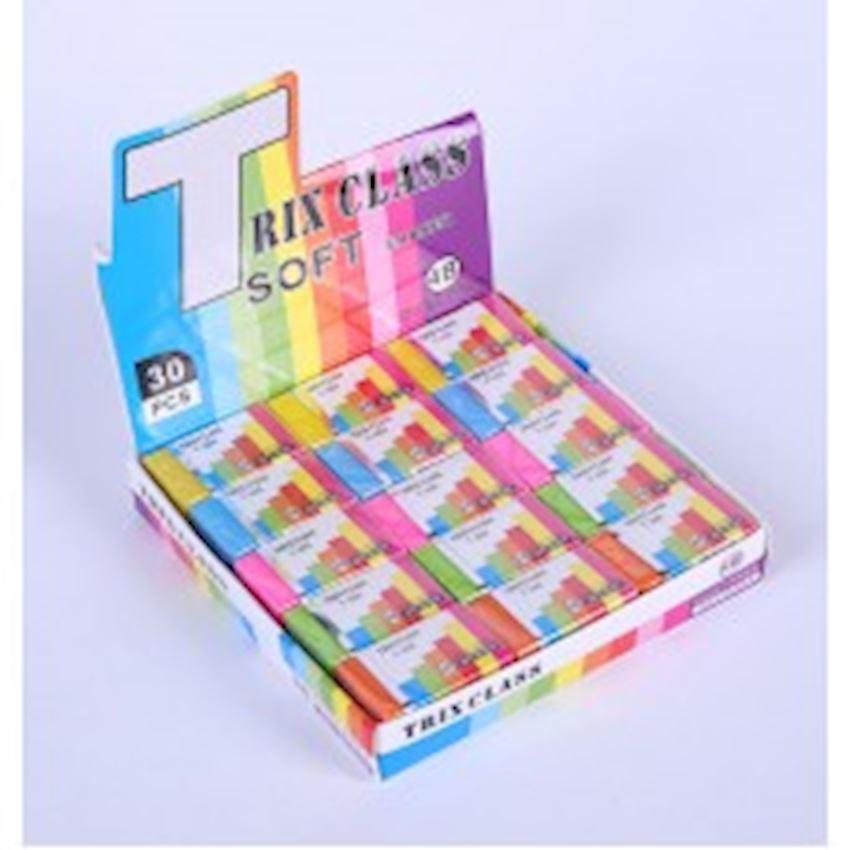 Colored Soft Eraser - 30 pcs Eraser