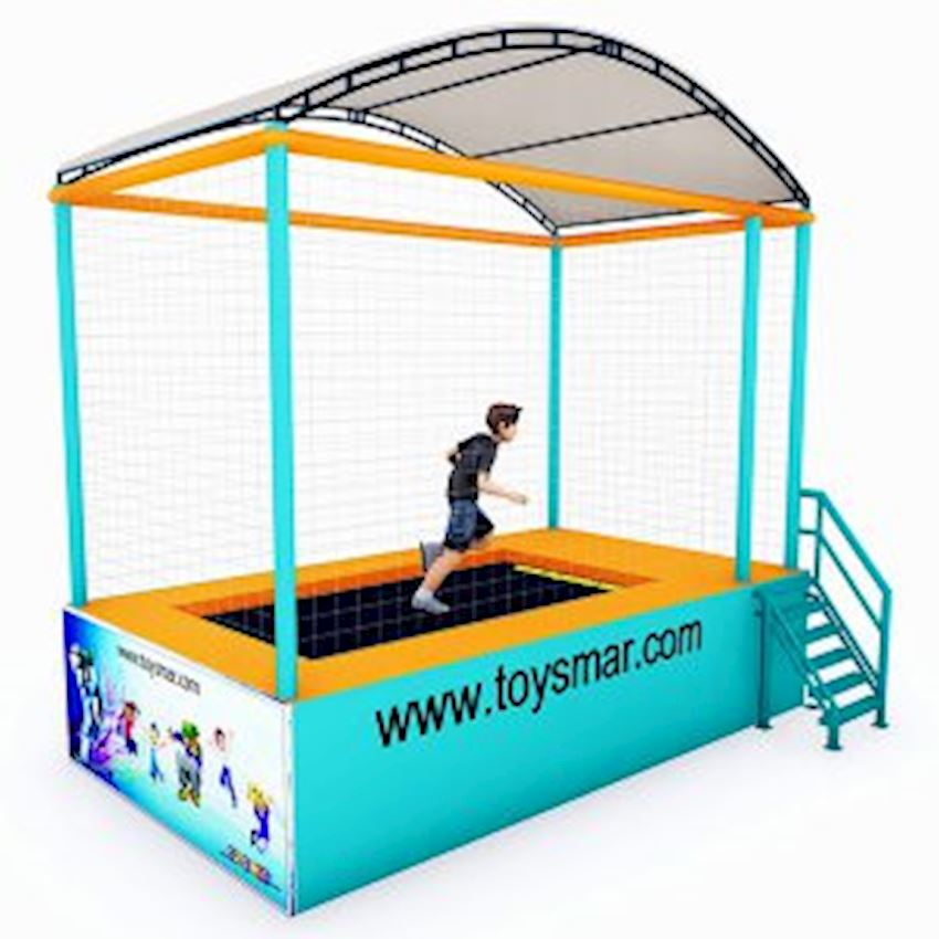 Commercial Junior Roofed Trampoline for 1 Person Amusement Park