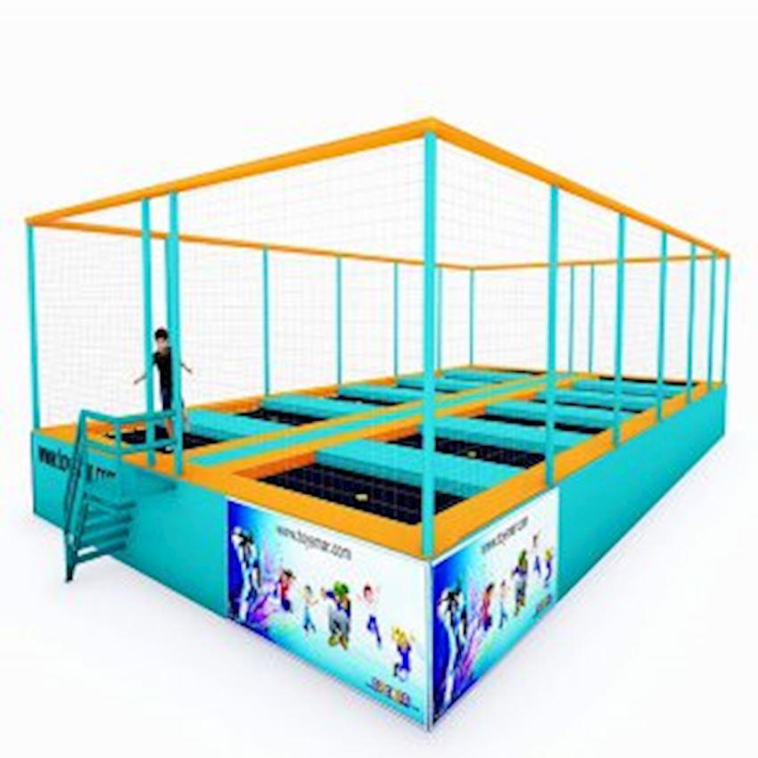 Commercial Junior Trampoline 12 People Amusement Park