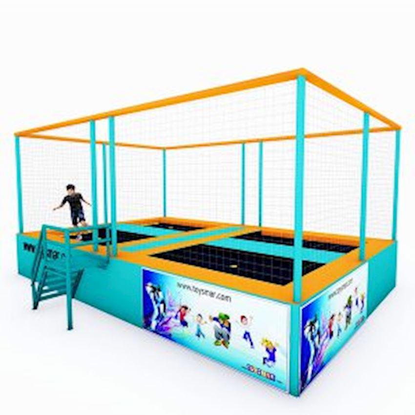Commercial Junior Trampoline 4 People Amusement Park