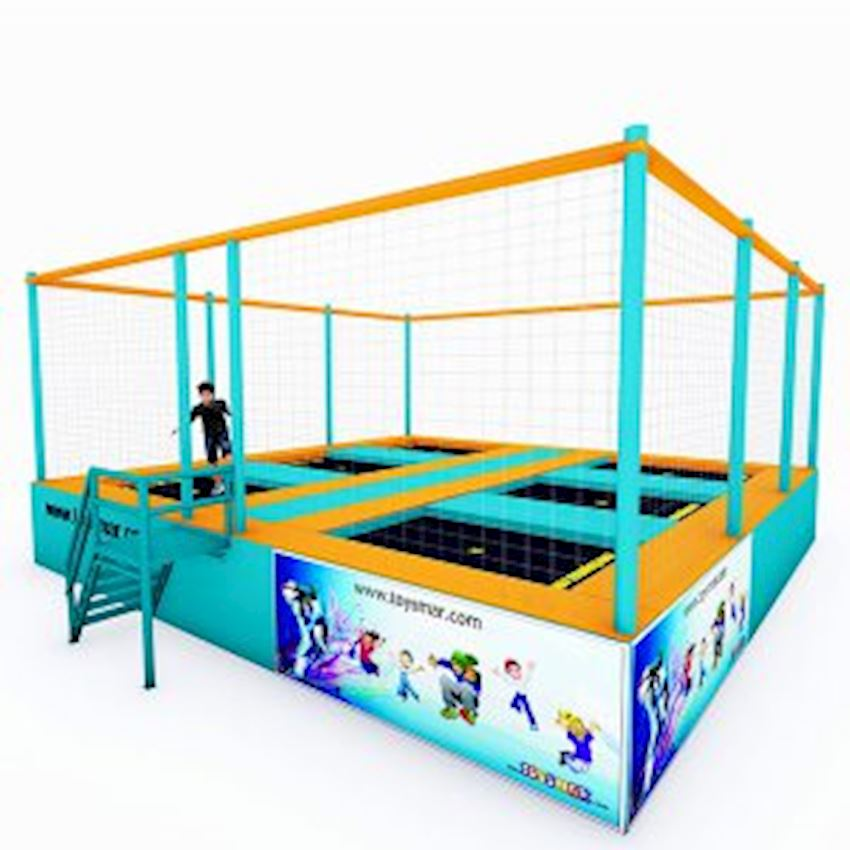 Commercial Junior Trampoline 6 People Amusement Park