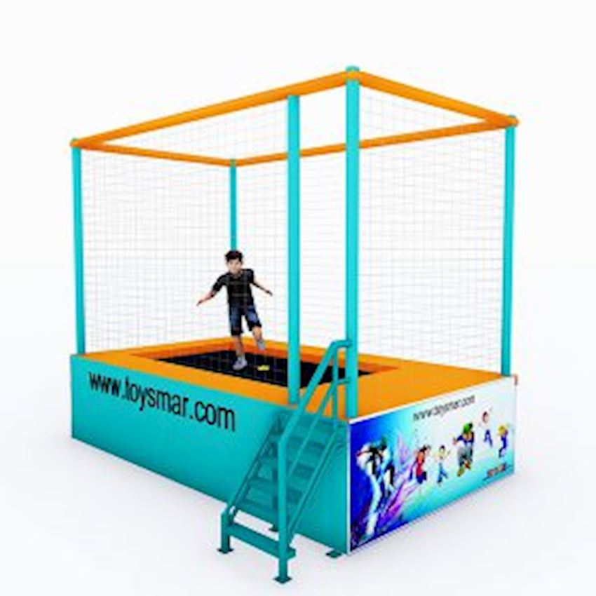 Commercial Junior Trampoline for 1 Person Amusement Park