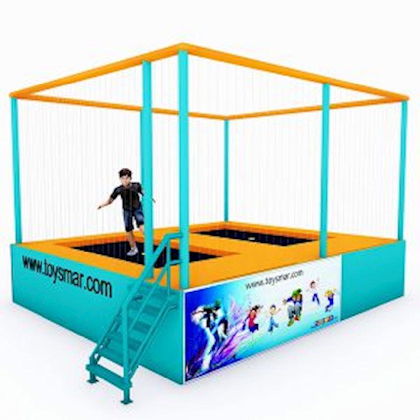 Commercial Junior Trampoline for 2 People Amusement Park