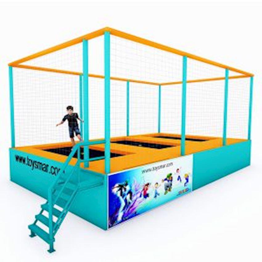 Commercial Junior Trampoline for 3 People Amusement Park