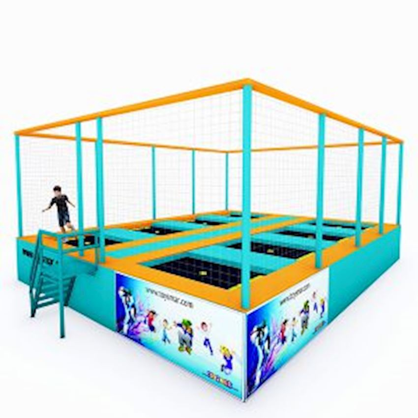 Commercial Junior Trampoline for 8 People Amusement Park