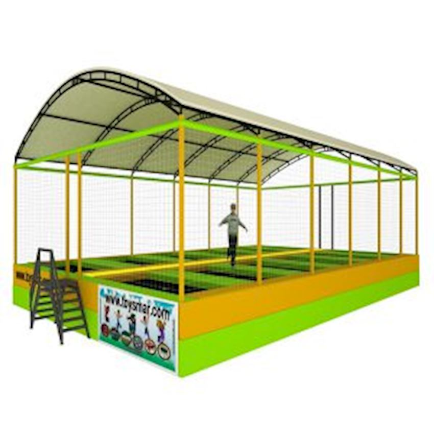 Commercial Olympic Roofed Trampoline 12 People Amusement Park
