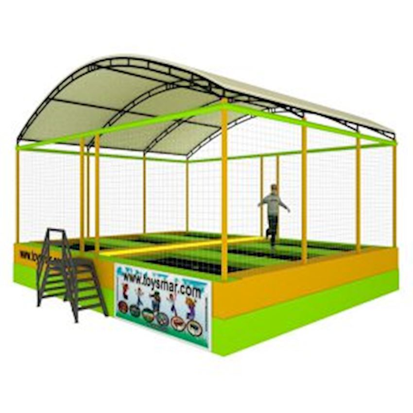 Commercial Olympic Roofed Trampoline 6 People Amusement Park