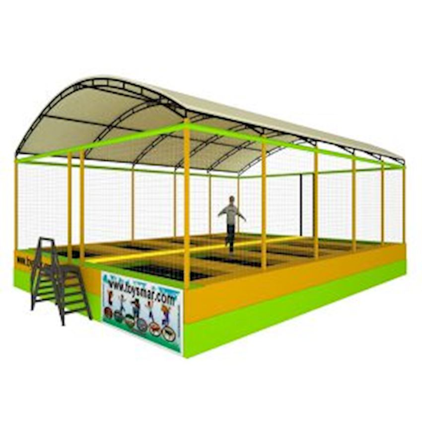 Commercial Olympic Roofed Trampoline for 10 People Amusement Park