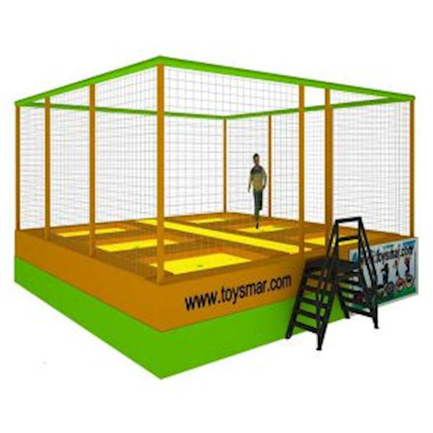 Commercial Olympic Trampoline 5 People Amusement Park