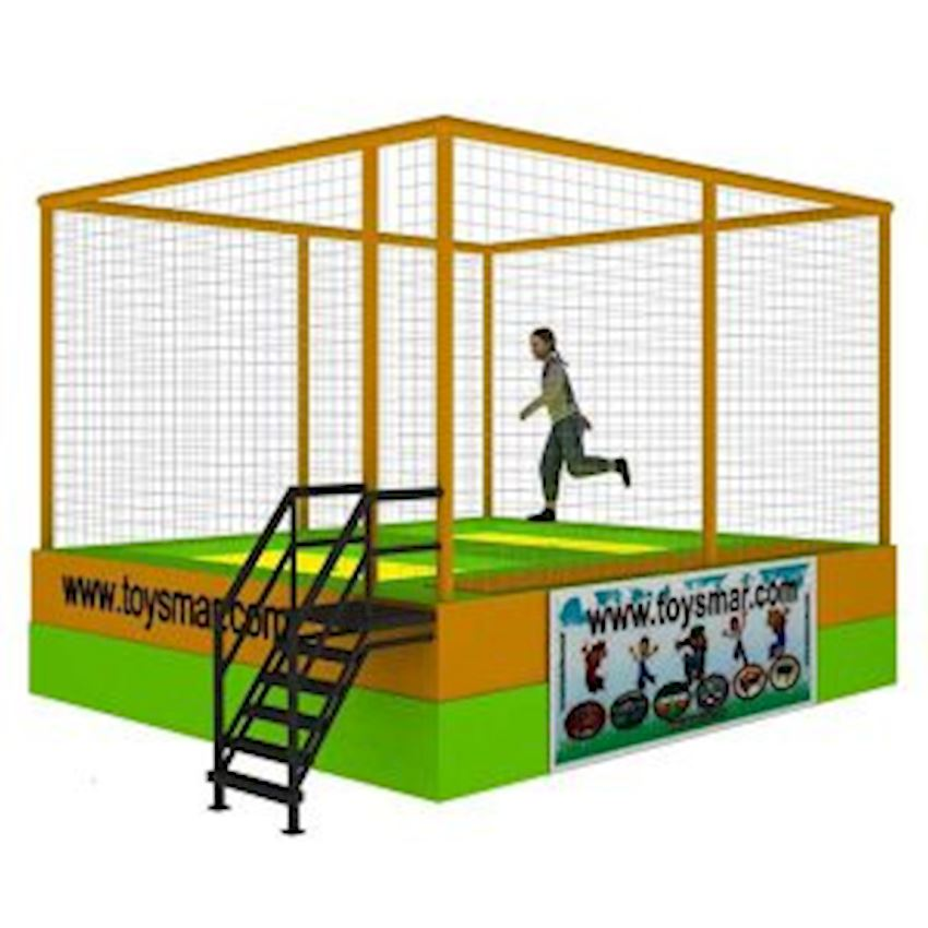 Commercial Olympic Trampoline for 2 People Amusement Park