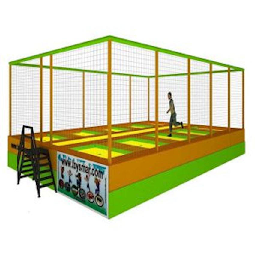 Commercial Olympic Trampoline for 8 People Amusement Park