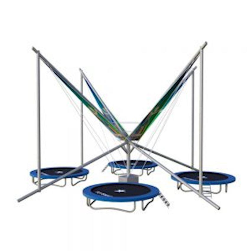 Commercial Salto Trampoline 4 Seater Aluminum 305 Amusement Park