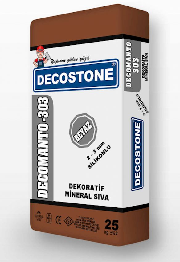 Decomanto-303 Decorative Mineral Plaster - Silicone 2-3mm Heat Insulation Materials
