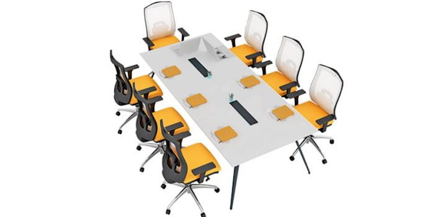 Deep Conference Table Office Meeting Room Table