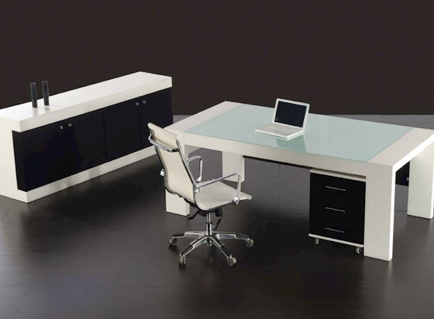 DIM EXECUTIVE DESKS WHITE Office Desks