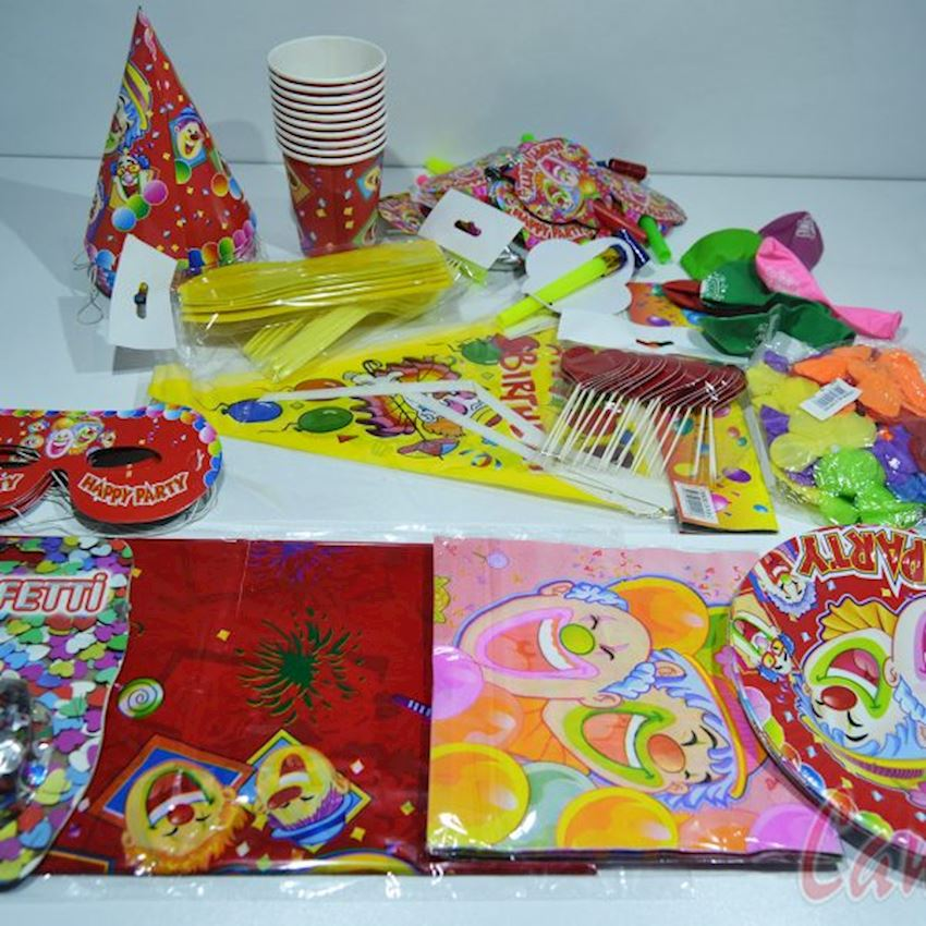 Disposable Party and Decoration Set for 10 People Event & Party Supplies