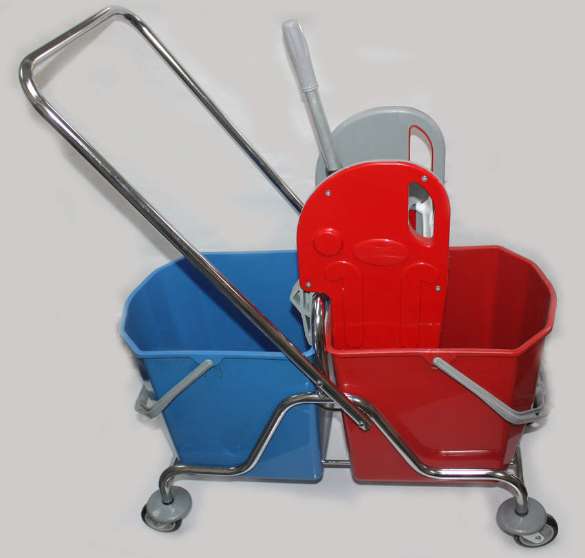 Double Bucket Chrome Cleaning Set