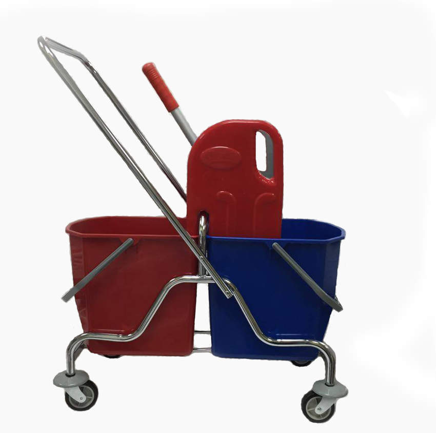 Double Bucket Cleaning Set Chrome