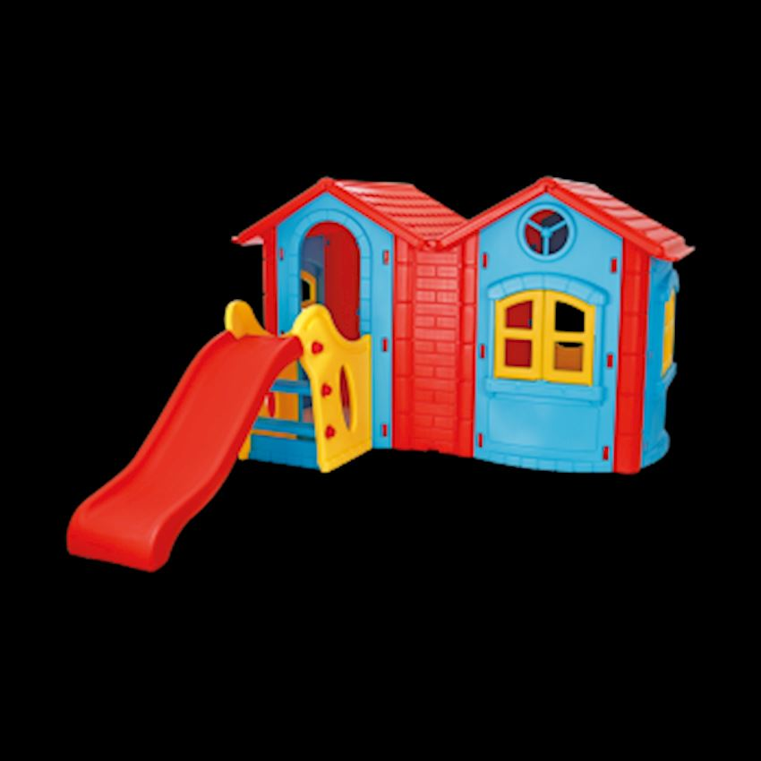 Double Happy House with Slide Other Outdoor Toys & Structures