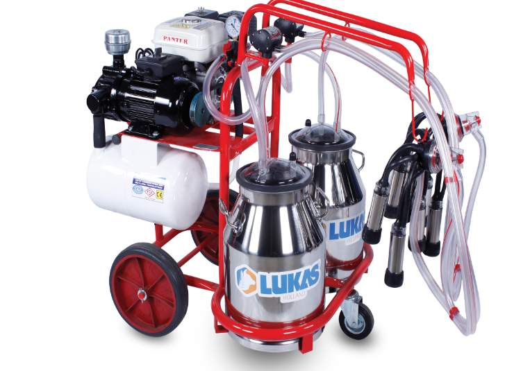 Double Milking Group Double Bucket With Electric and Gasoline Engine