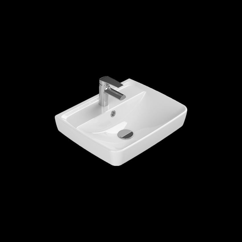 Duru Washbasin, 50 cm Bathroom Sinks