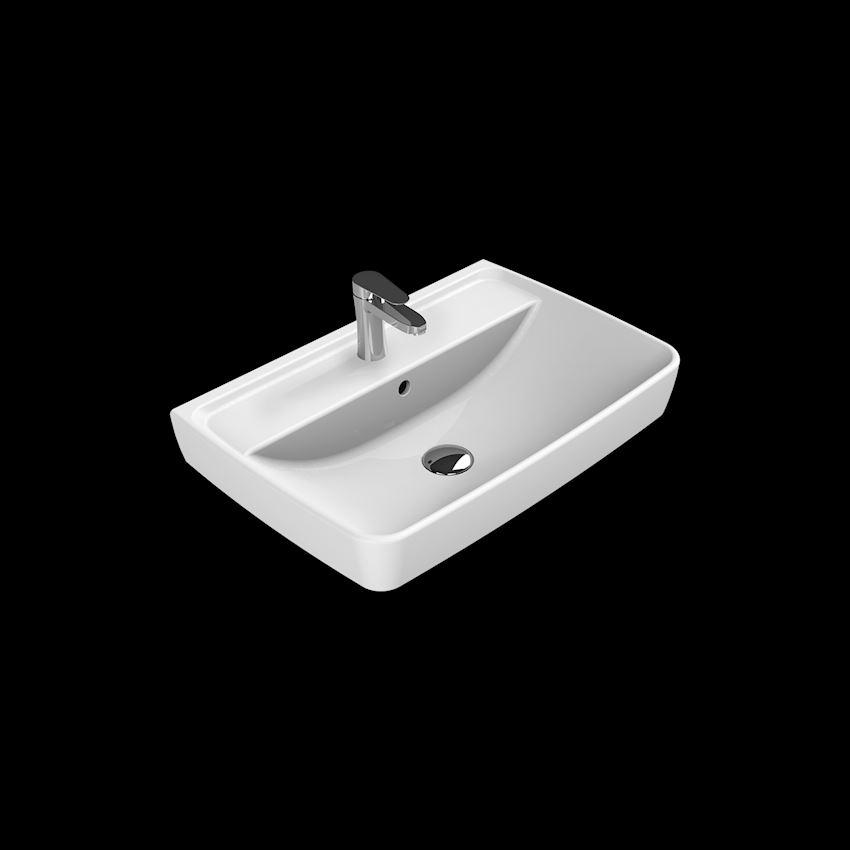 Duru Washbasin, 60 cm Bathroom Sinks