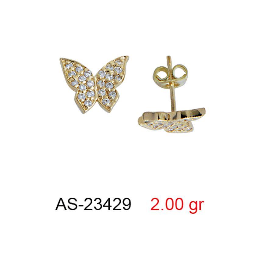 Earrings- STONE SCREW EARRINGS AS-23429