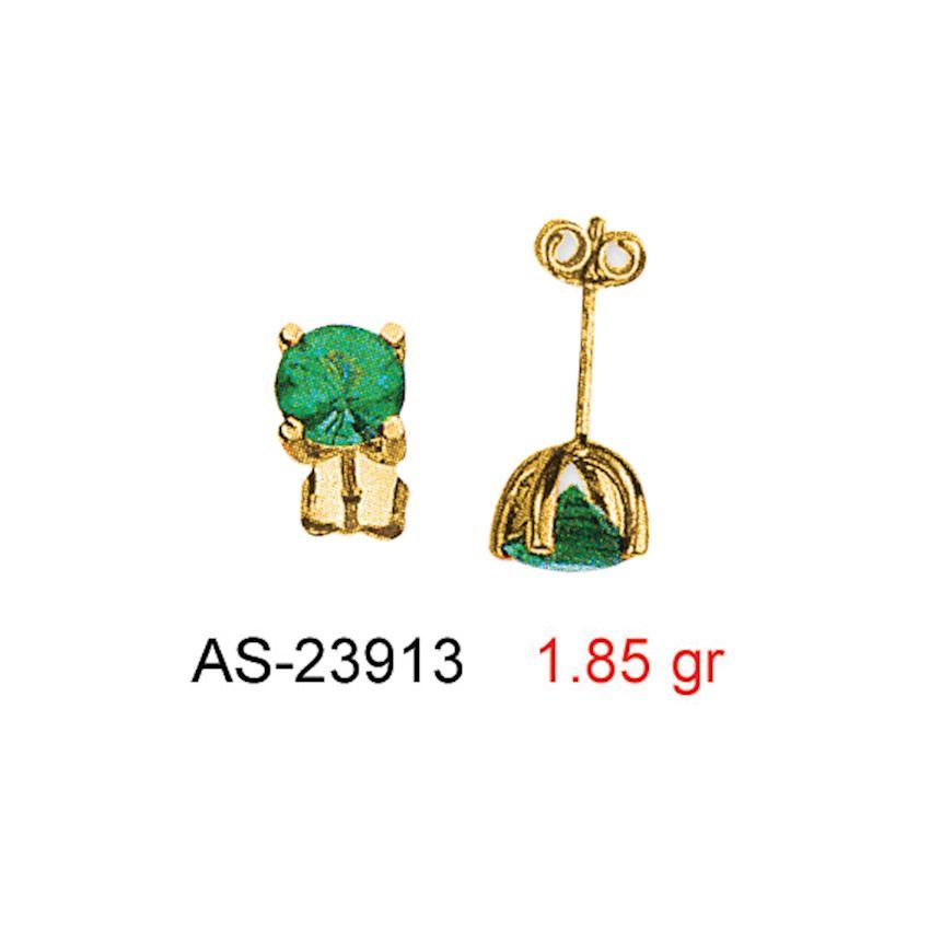 Earrings- STONE SCREW EARRINGS AS23913
