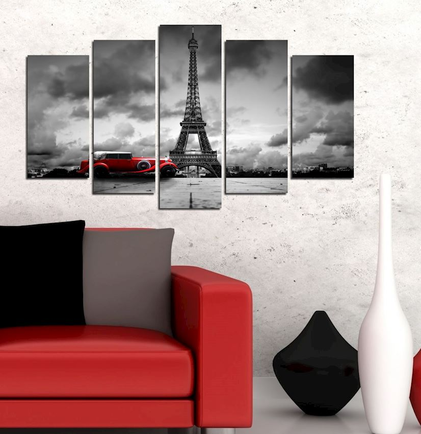 Eiffel (5) 5 Pieces MDF Table 102x60x2.1cm