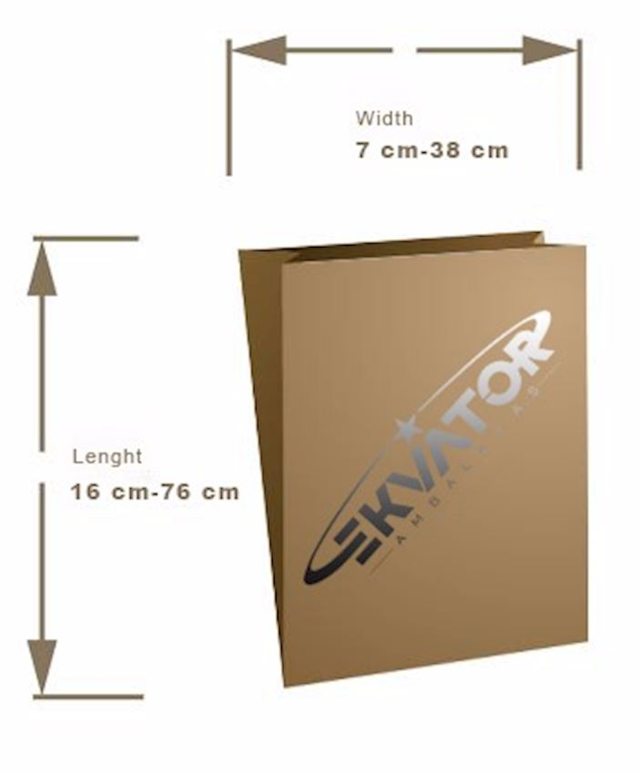 EKVATOR Flat Paper Bag Packaging Bags