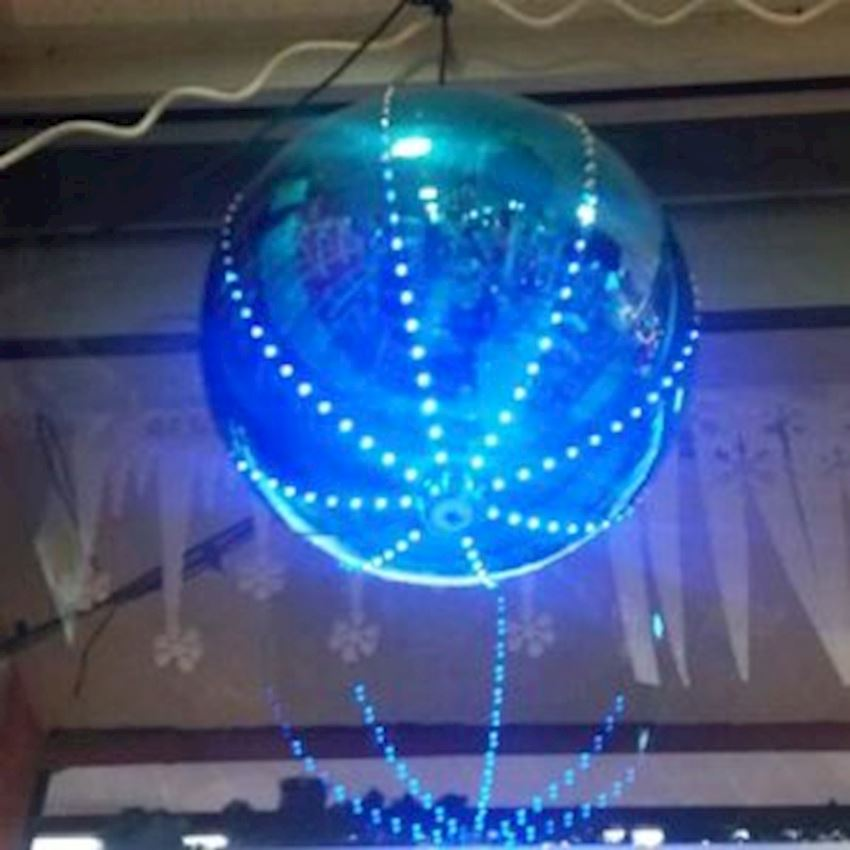 Electric Flashing Light Cici Top Ceiling Ornament Blue 30cm Christmas Decoration Supplies