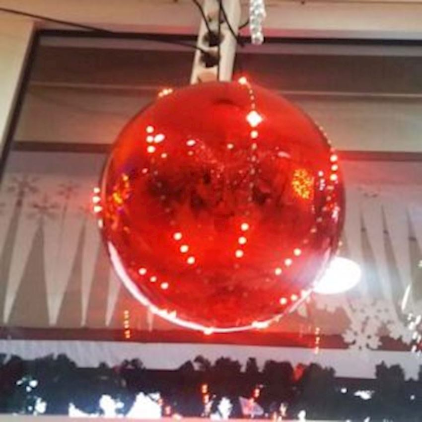 Electric Flashing Light Cici Top Ceiling Ornament Red 30cm Christmas Decoration Supplies