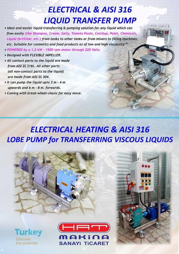 ELECTRICAL & AISI 316 LIQUID TRANSFER PUMPS